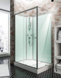 Cabine de douche complète Corsica 120 x 80 cm