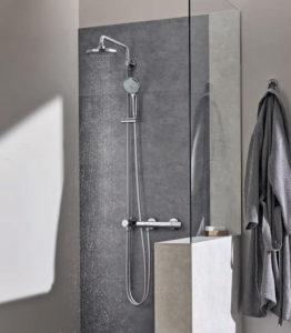 colonne de douche grohe reglable hauteur