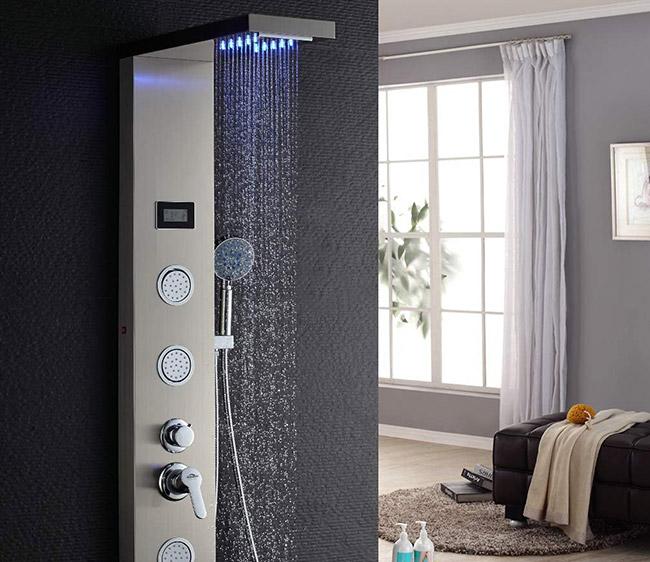 auralum colonne douche led